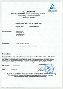 Certificate for Quality Management